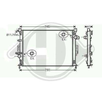 Radiateur, refroidissement du moteur - HDK-Germany - 77HDK8142807