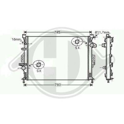 Radiateur, refroidissement du moteur - HDK-Germany - 77HDK8142808