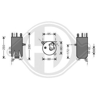 Filtre déshydratant, climatisation - Diederichs Germany - 8145401