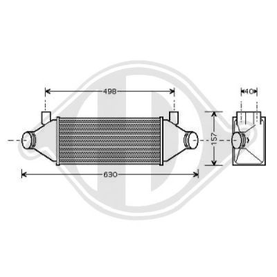 Intercooler, échangeur - Diederichs Germany - 8145402