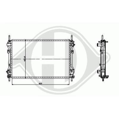 Radiateur, refroidissement du moteur - HDK-Germany - 77HDK8145407