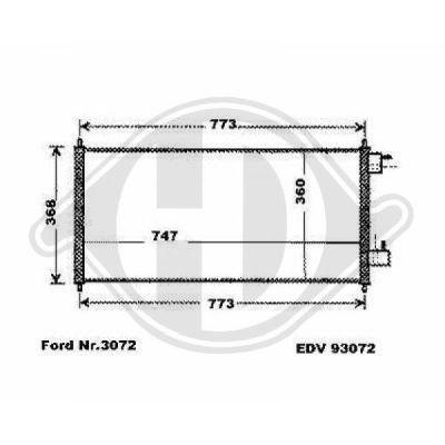 Condenseur, climatisation - HDK-Germany - 77HDK8145460