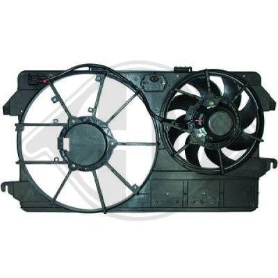 Ventilateur, refroidissement du moteur - Diederichs Germany - 8145462