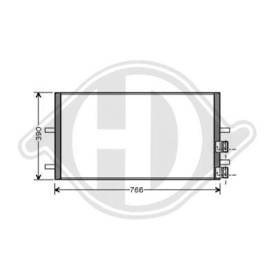 Condenseur, climatisation - Diederichs Germany - 8145500
