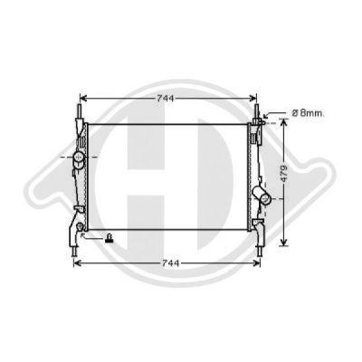 Radiateur, refroidissement du moteur - Diederichs Germany - 8145502