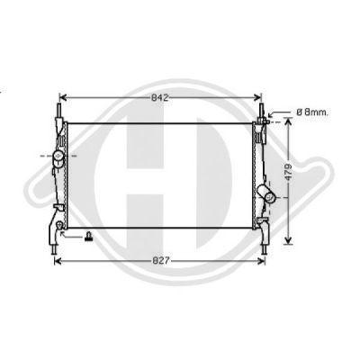 Radiateur, refroidissement du moteur - Diederichs Germany - 8145503