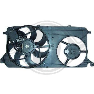 Ventilateur, refroidissement du moteur - Diederichs Germany - 8145512