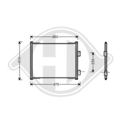 Condenseur, climatisation - Diederichs Germany - 8146000