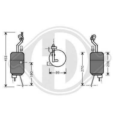 Filtre déshydratant, climatisation - Diederichs Germany - 8146001