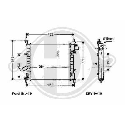 Radiateur, refroidissement du moteur - Diederichs Germany - 8146006