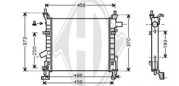 Radiateur, refroidissement du moteur - Diederichs Germany - 8146007