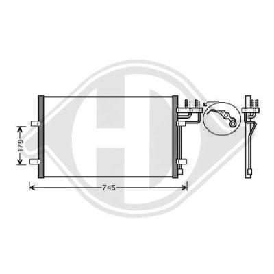 Condenseur, climatisation - Diederichs Germany - 8146500