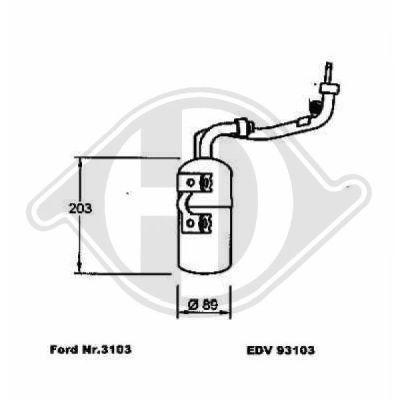 Filtre déshydratant, climatisation - Diederichs Germany - 8146501