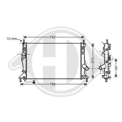 Radiateur, refroidissement du moteur - Diederichs Germany - 8146504