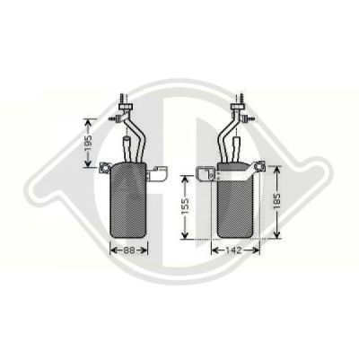 Filtre déshydratant, climatisation - HDK-Germany - 77HDK8146505