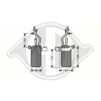 Filtre déshydratant, climatisation - Diederichs Germany - 8146505