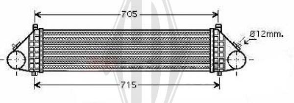 Intercooler, échangeur - Diederichs Germany - 8146506