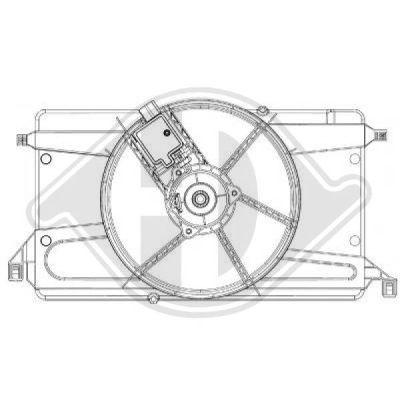 Ventilateur, refroidissement du moteur - Diederichs Germany - 8146508