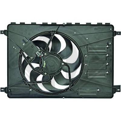 Ventilateur, refroidissement du moteur - Diederichs Germany - 8148505