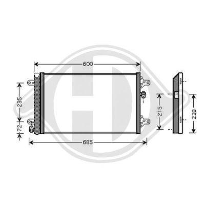 Condenseur, climatisation - Diederichs Germany - 8149010