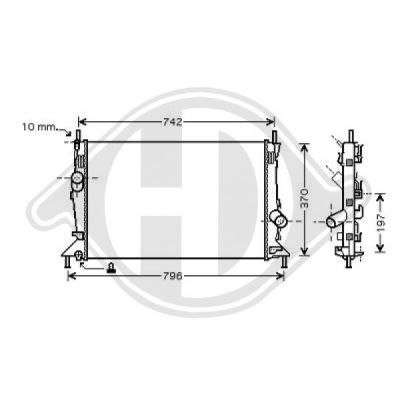 Radiateur, refroidissement du moteur - HDK-Germany - 77HDK8149012