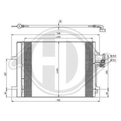 Condenseur, climatisation - Diederichs Germany - 8149100