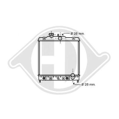 Radiateur, refroidissement du moteur - Diederichs Germany - 8150121