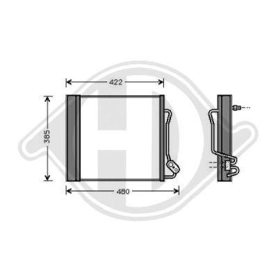 Condenseur, climatisation - Diederichs Germany - 8160500