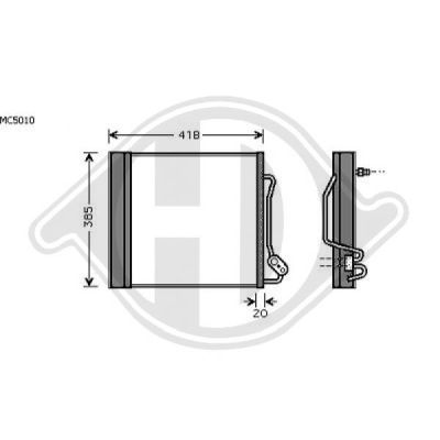 Condenseur, climatisation - Diederichs Germany - 8160510