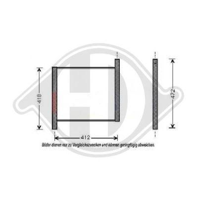 Radiateur, refroidissement du moteur - Diederichs Germany - 8160511