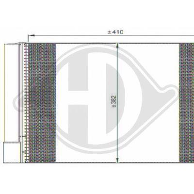 Condenseur, climatisation - Diederichs Germany - 8160600