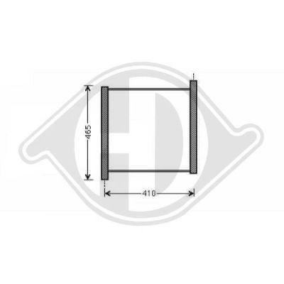 Radiateur, refroidissement du moteur - Diederichs Germany - 8160601