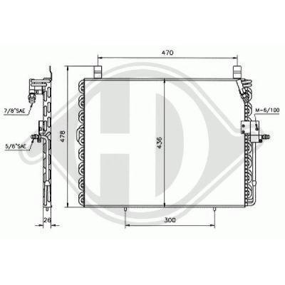 Condenseur, climatisation - Diederichs Germany - 8161200