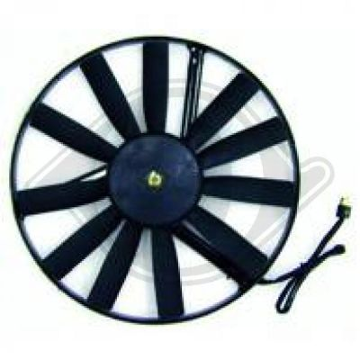 Ventilateur, refroidissement du moteur - Diederichs Germany - 8161202