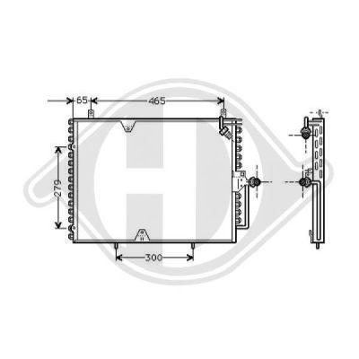 Condenseur, climatisation - Diederichs Germany - 8161300
