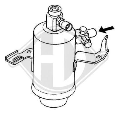 Filtre déshydratant, climatisation - Diederichs Germany - 8161302