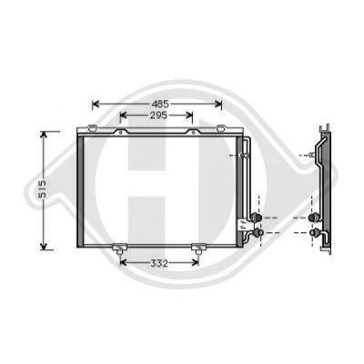 Condenseur, climatisation - Diederichs Germany - 8161400