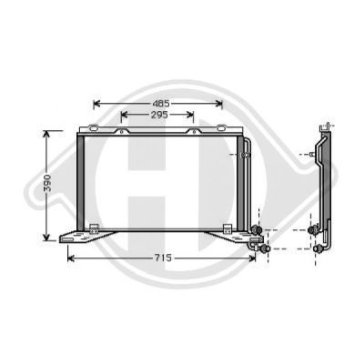 Condenseur, climatisation - Diederichs Germany - 8161401