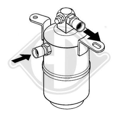 Filtre déshydratant, climatisation - HDK-Germany - 77HDK8161403