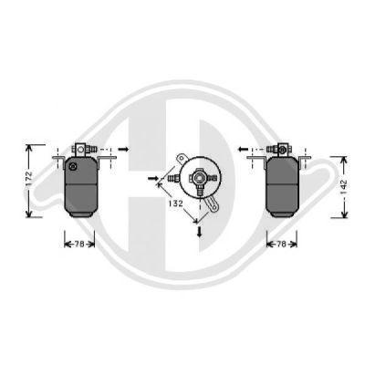 Filtre déshydratant, climatisation - Diederichs Germany - 8161404
