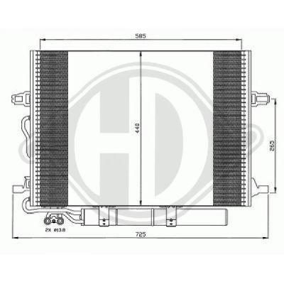 Condenseur, climatisation - Diederichs Germany - 8161500