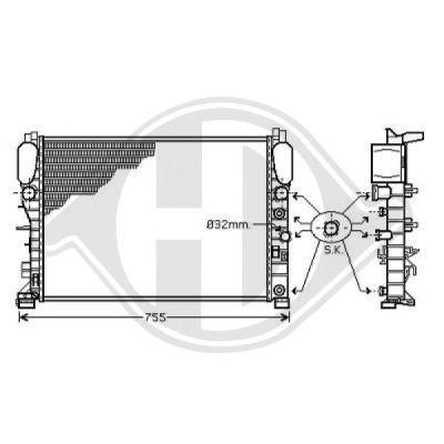 Radiateur, refroidissement du moteur - Diederichs Germany - 8161503