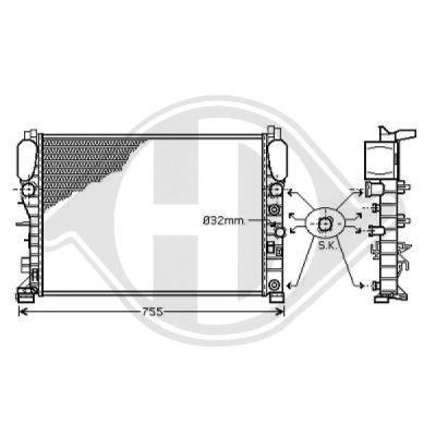 Radiateur, refroidissement du moteur - Diederichs Germany - 8161504