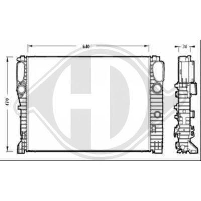 Radiateur, refroidissement du moteur - Diederichs Germany - 8161505