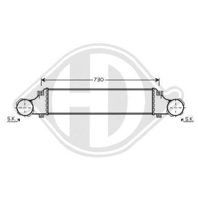 Intercooler, échangeur - Diederichs Germany - 8161509