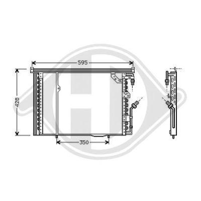 Condenseur, climatisation - Diederichs Germany - 8162000