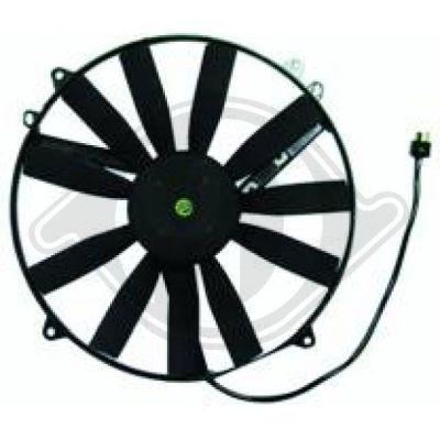Ventilateur, condenseur de climatisation - Diederichs Germany - 8162001