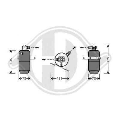 Filtre déshydratant, climatisation - HDK-Germany - 77HDK8163501