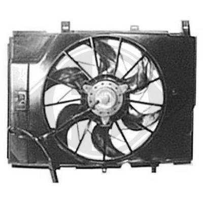 Ventilateur, refroidissement du moteur - Diederichs Germany - 8163502