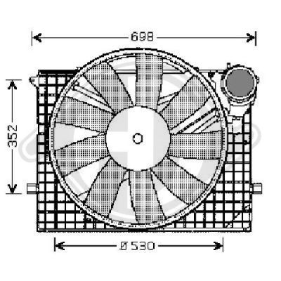 Ventilateur, refroidissement du moteur - Diederichs Germany - 8164602